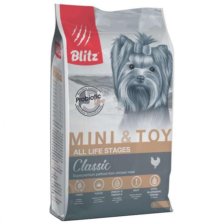 Blitz Classic Mini & Toy Breeds Dog All Life Stages Сухой корм для собак мелких и миниатюрных пород всех возрастов