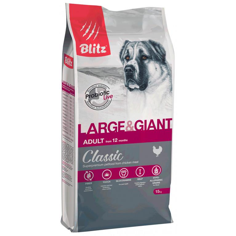 Blitz Classic Large & Giant Breeds Adult Dog Сухой корм для взрослых собак крупных и гигантских пород