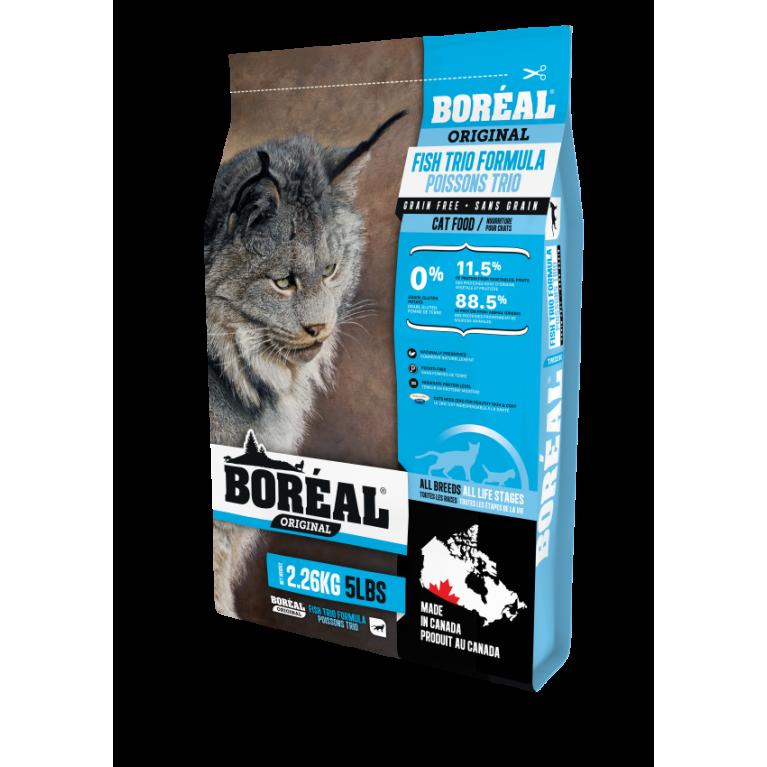 BOREAL ORIGINAL Корм для кошек всех пород и возрастов с 3 видами рыбы