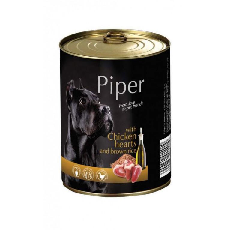 DOLINA NOTECI PIPER Консервы для собак с куриными сердцами и коричневым рисом 800 гр