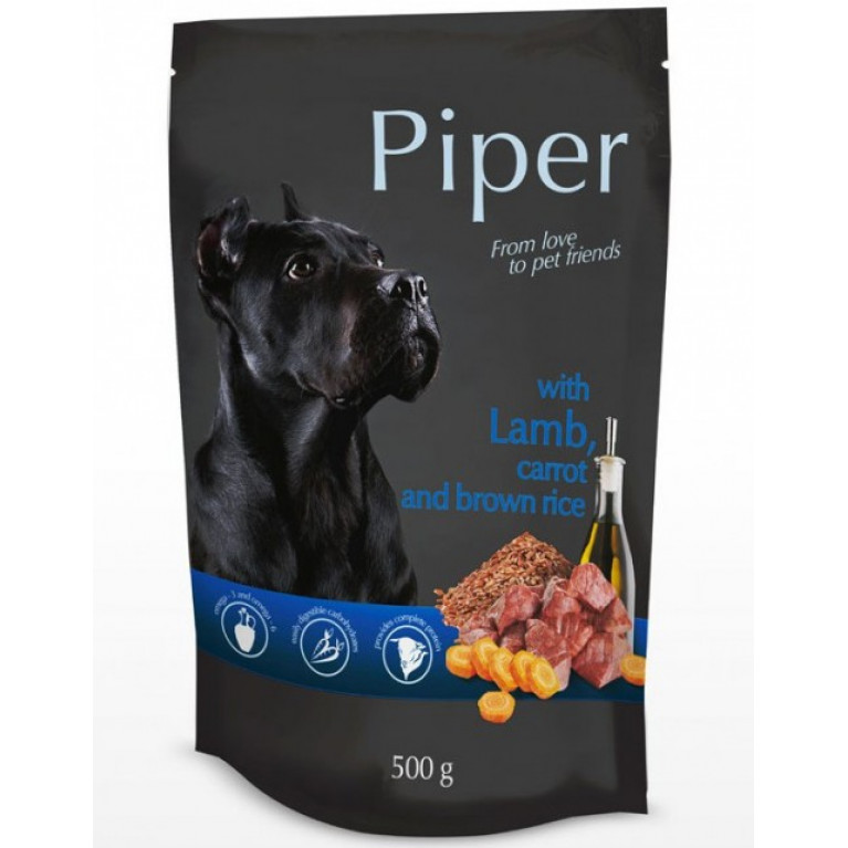 Dolina Noteci PIPER WITH LAMB, CARROT AND BROWN RICE  Влажный корм для собак (Ягненок, морковь и коричневый рис) 500г