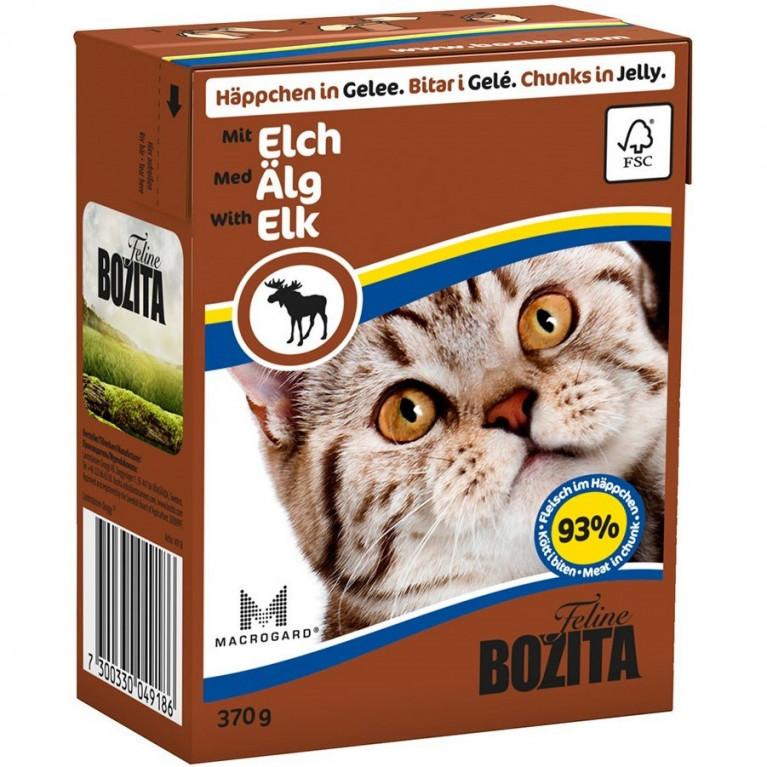 Bozita Консервы для кошек (кусочки в желе с мясом лося) 370 гр