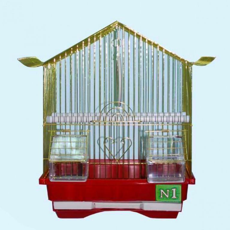 Клетка для птиц №1 Пагода.Крыша Золото (комплект)