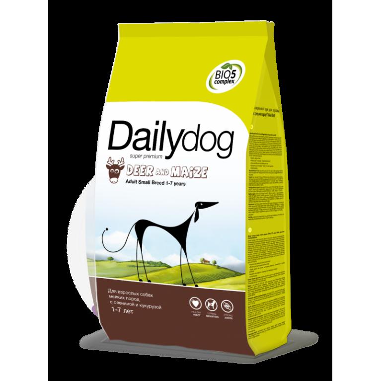 Dailydog SMALL BREED Deer & Maize Сухой корм для взрослых собак мелких пород с олениной и кукурузой