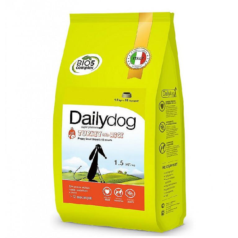 Dailydog PUPPY SMALL BREED Turkey and Rice /Сухой корм для щенков малых пород с индейкой и рисом