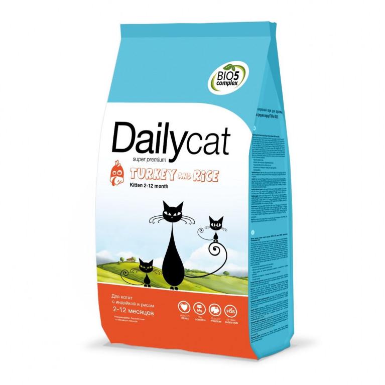 DailyCat Kitten/ Дейли Кет для котят, беременных и лактирующих кошек (Индейка/рис)
