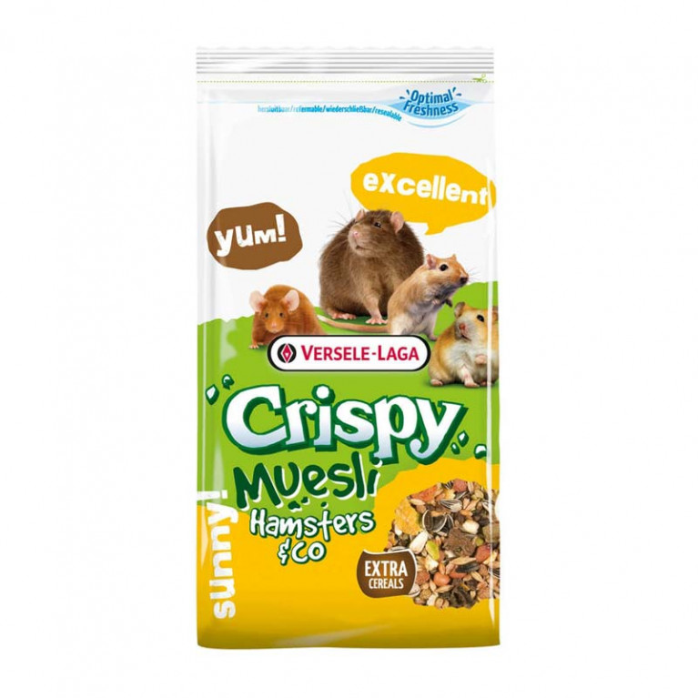 Versele-Laga Crispy Muesli Hamsters & Co Корм для хомяков и других грызунов 400 гр