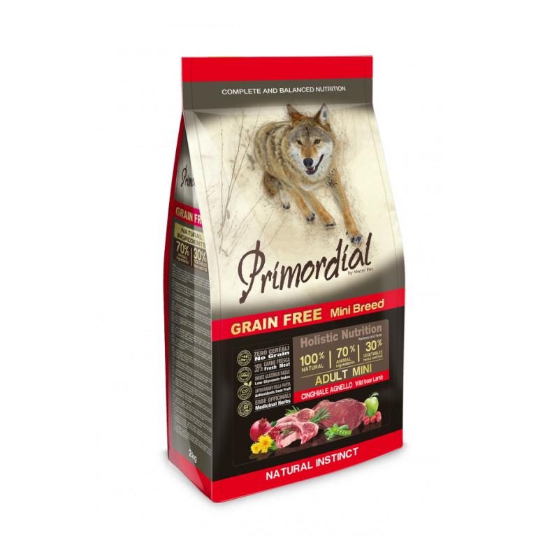 Primordial Dog Adult Mini Беззерновой корм-холистик для взрослых собак мелких пород (Кабан, ягненок)