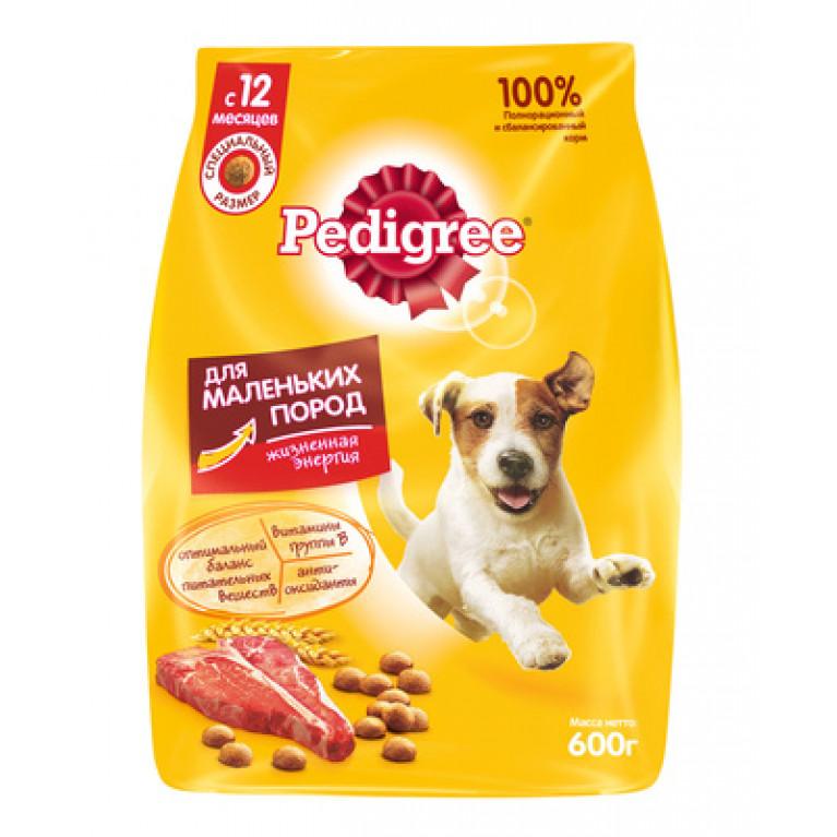 Pedigree Сухой корм для собак маленьких пород (Говядина)