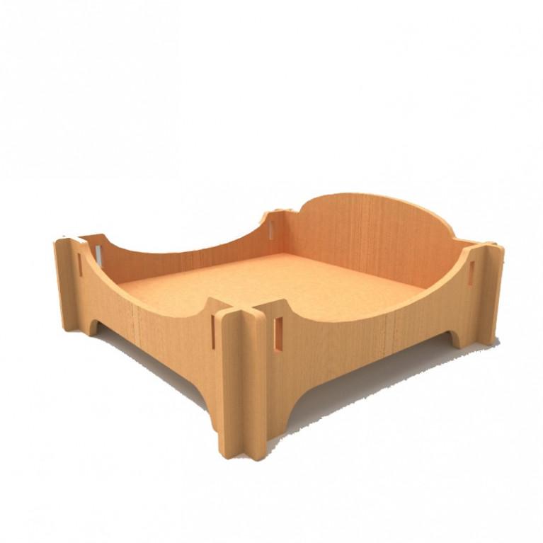 Лежанка - кроватка деревянная Infiniti FK003
