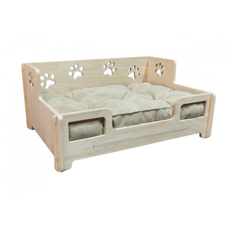 Лежанка - кроватка деревянная с матрасом FK001
