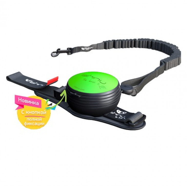 Lishinu поводок-рулетка для собак, неоновый зеленый