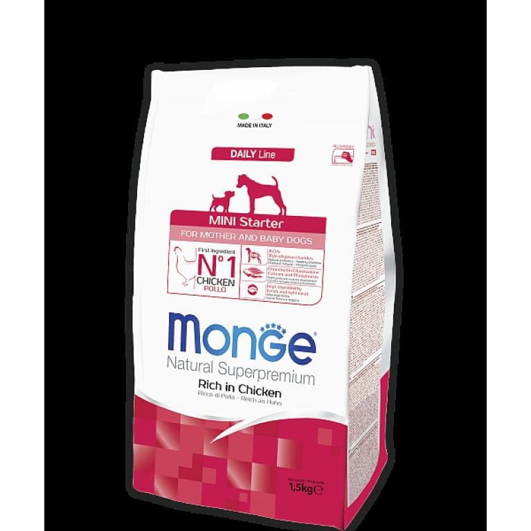 Monge Dog Daily Line Mini Starter корм для щенков мелких пород курица 1,5 кг
