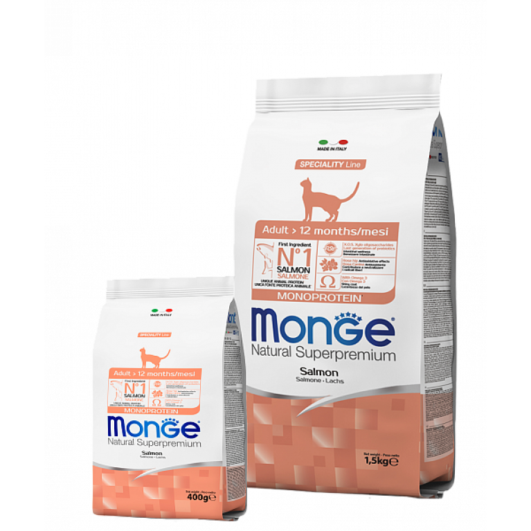 Monge Cat Speciality Line корм для взрослых кошек с лососем