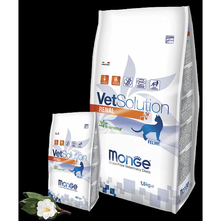 Monge VetSolution Cat Renal для поддержания функции почек у кошек при заболеваниях почек Курица