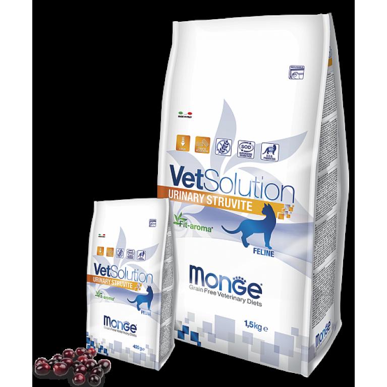Monge VetSolution Cat Urinary Struvite для растворения струвитных камней и профилактики их образования у кошек Лосось