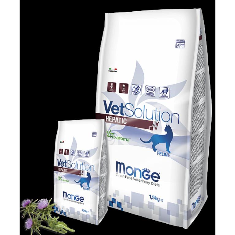 Monge VetSolution Cat Hepatic для поддержания функции печени у кошек при заболеваниях печени Курица