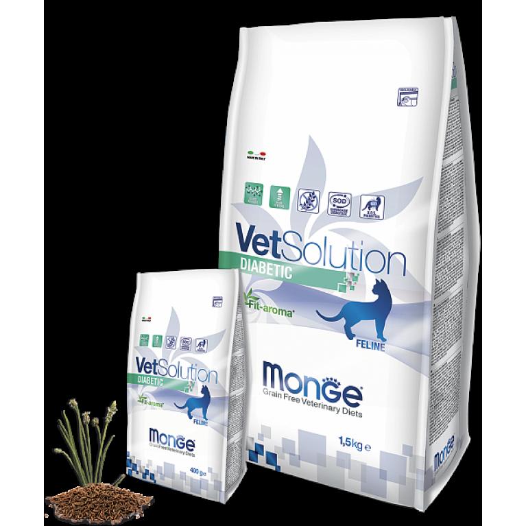 Monge VetSolution Cat Diabetic для контроля поступления глюкозы при сахарном диабете у кошек Курица