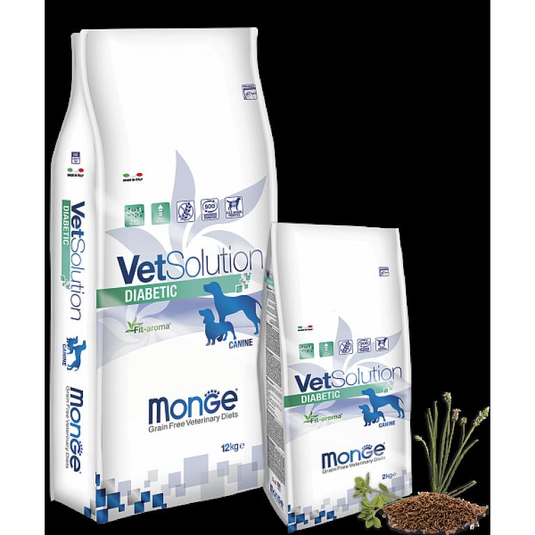 Monge VetSolution Dog Diabetic Диета для собак, страдающих сахарным диабетом Курица