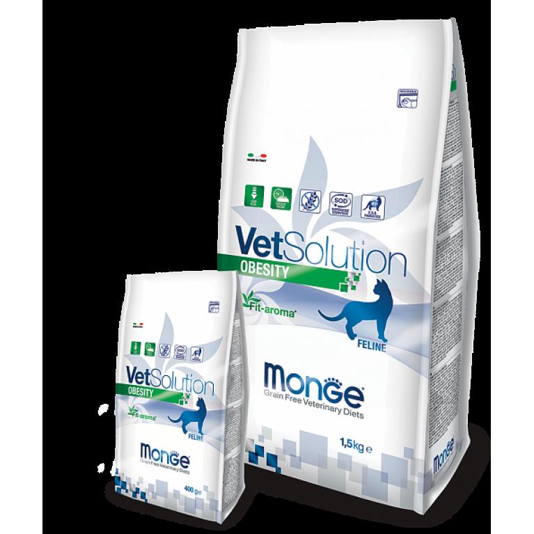 Monge VetSolution Cat Obesity для снижения избыточной массы тела у кошек Курица