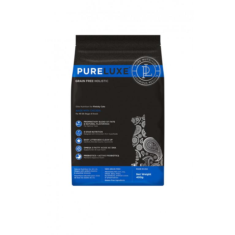 Pureluxe Finicky Сухой корм для привередливых кошек с курицей