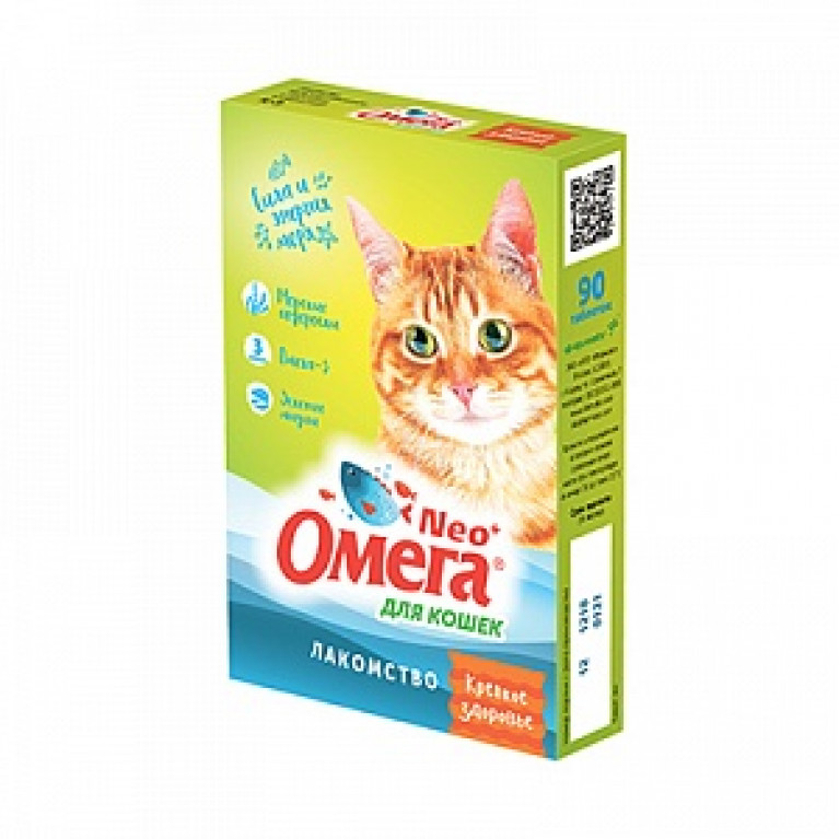 Омега Neo+ Лакомство Крепкое здоровье для кошек с морскими водорослями 90 таб.