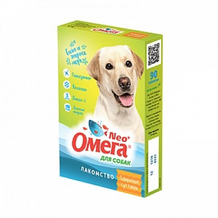 Омега Neo+ Лакомство Здоровые суставы для собак с глюкозамином и коллагеном (уп. 90 таб.)