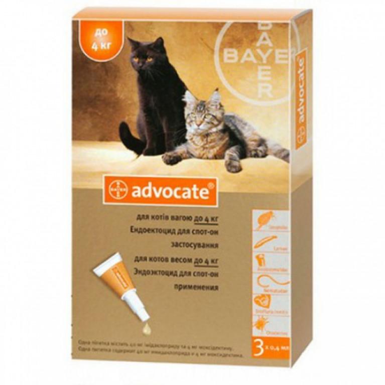 Advocate Адвокат для кошек до 4 кг (3 пипетки)