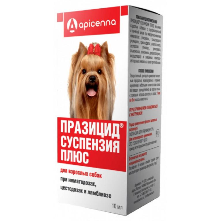 Празицид-суспензия Плюс для взрослых собак, 10 мл