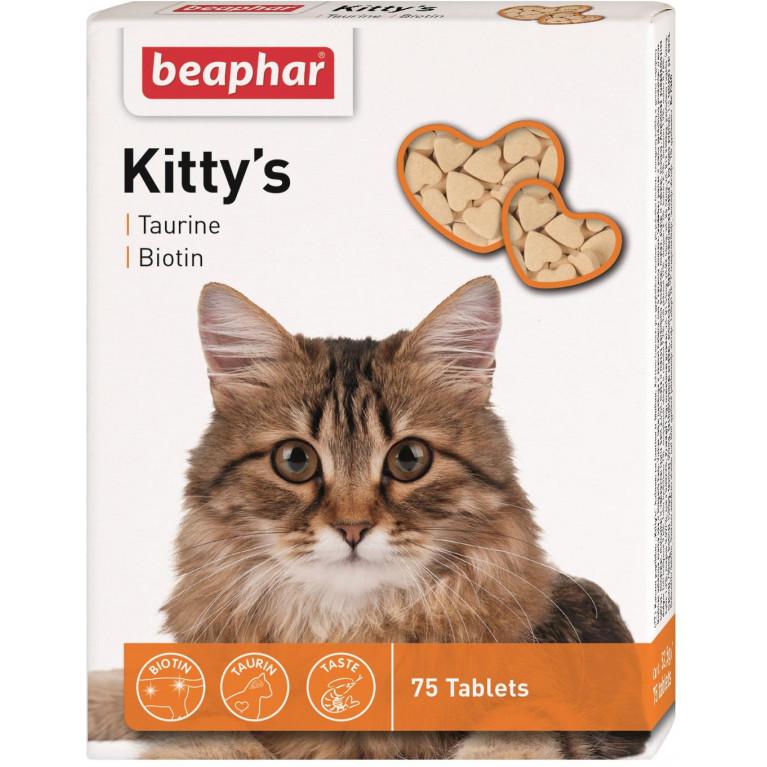Beaphar Kitty'sвитамины с таурином,биотином для кошек 75 таб.