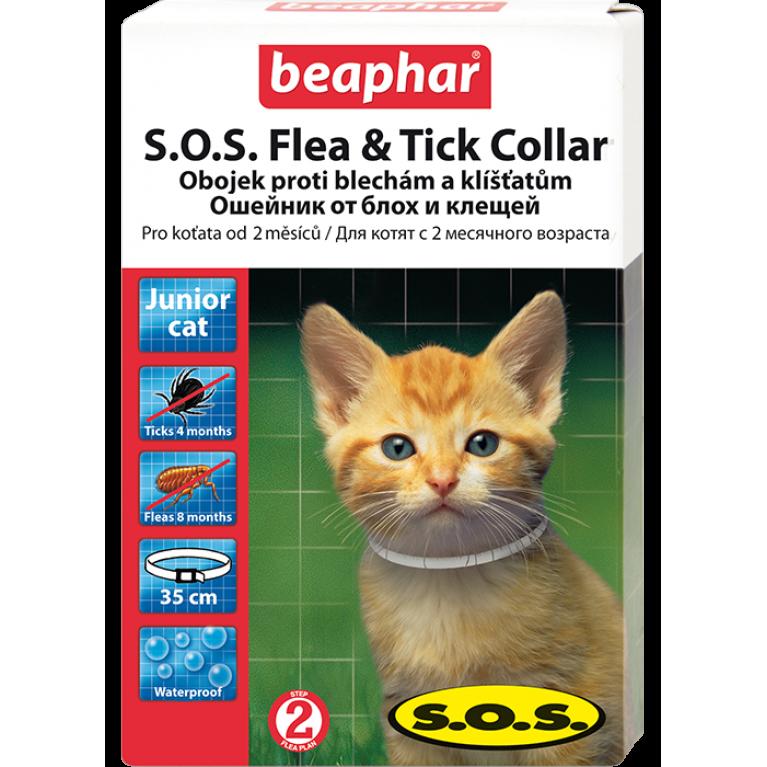 Beaphar SOS ошейник для котят без запаха, 35 см.