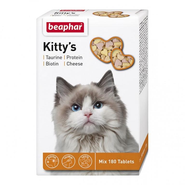 Beaphar Kitty's Mix витамины для взрослых кошек, 180 табл.