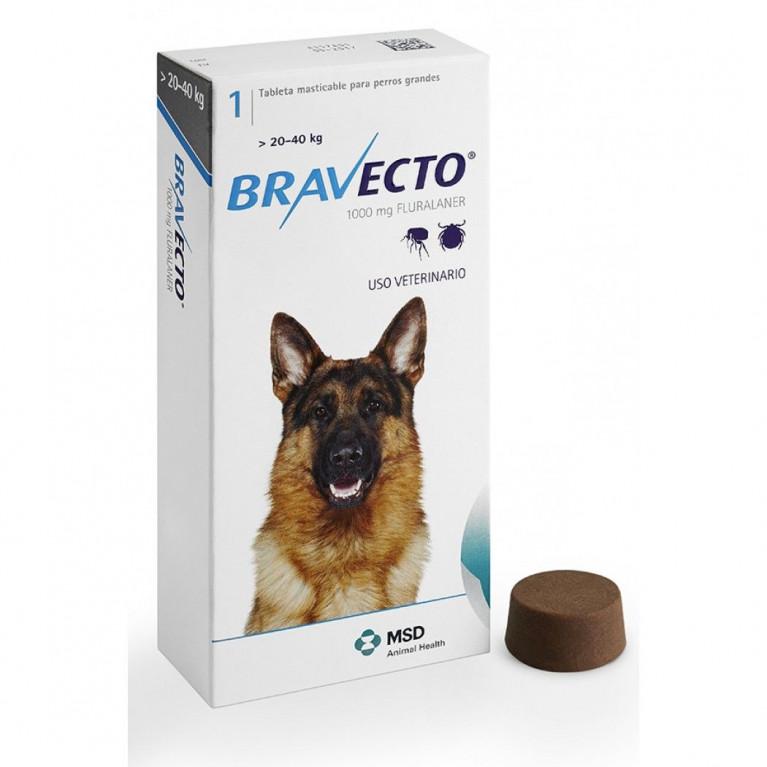 Bravecto Бравекто жевательная таблетка от блох и клещей для собак весом от 20 до 40 кг. - 1000 мг