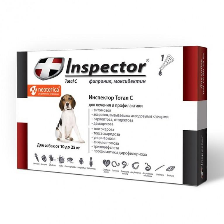 Inspector Инспектор для собак 10-25 кг (1 пипетка)