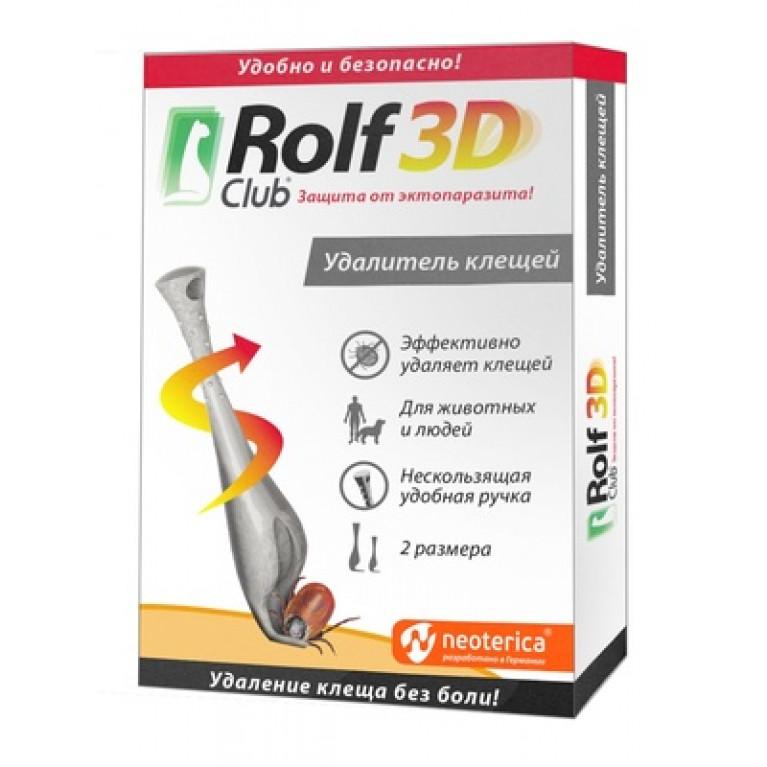 Удалитель клещей ROLF CLUB 3D – Рольф клуб профессиональный удалитель (выкручиватель) клещей
