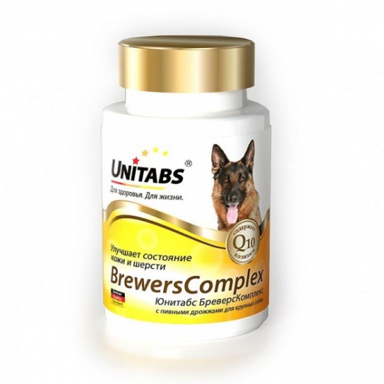Unitabs Brewers Complex Юнитабс Бреверс Комплекс витамины для здоровья кожи и шерсти для собак средних и крупных пород  от 6 месяцев до 7 лет.