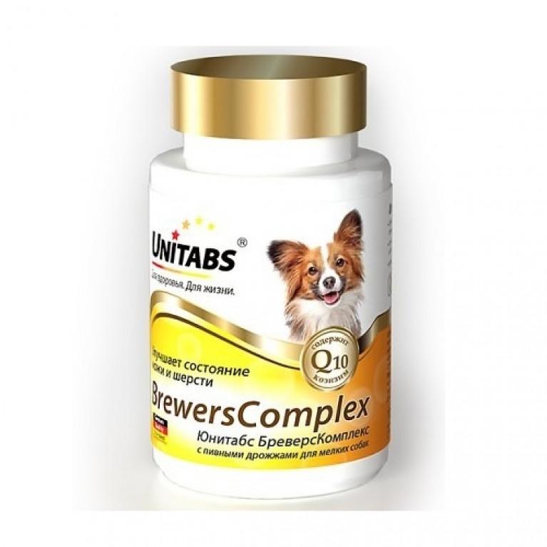 Unitabs Brewers Complex Юнитабс Бреверс Комплекс для здоровья кожи и шерсти для собак мелких пород от 6 месяцев до 7 лет.
