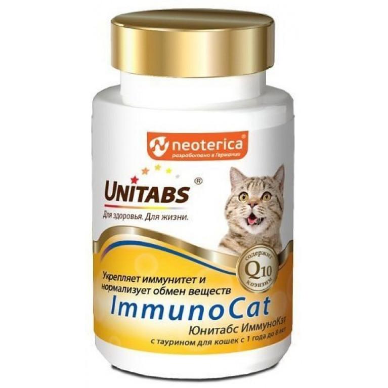 Unitabs Immuno Cat Юнитабс Иммуно Кэт с таурином для кошек с 1 года до 8 лет