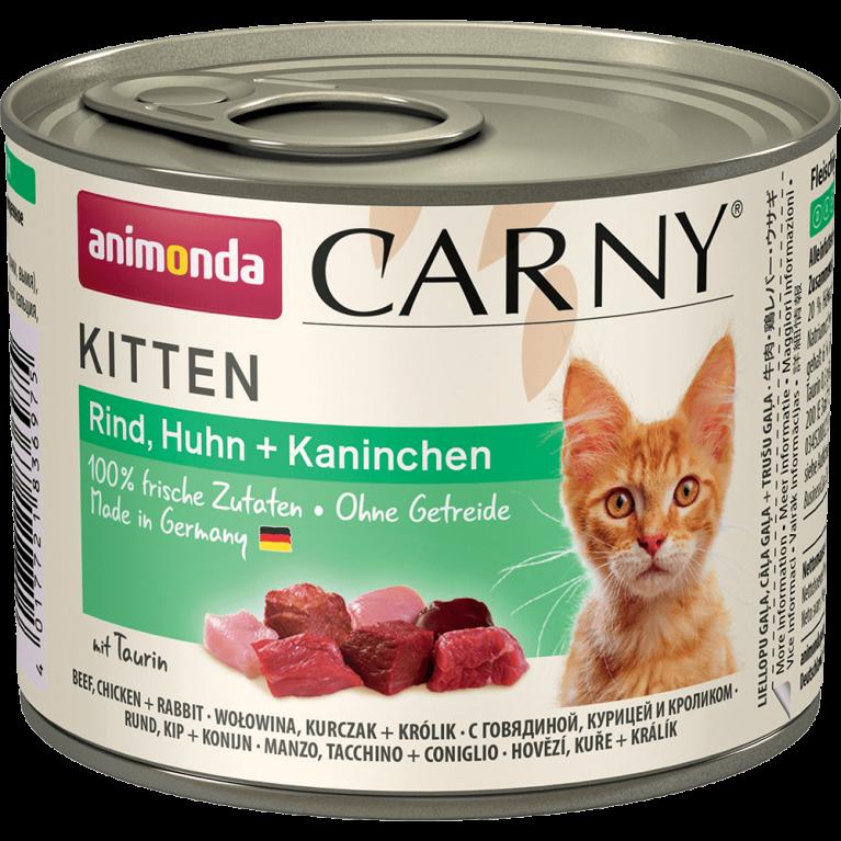 Animonda Carny Kitten - консервы для котят с курицей, говядиной и кроликом, 200 г