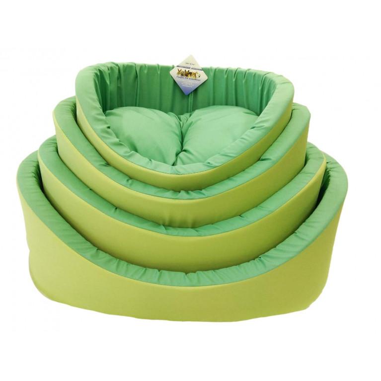 Лежак с бортиков №3 зеленый