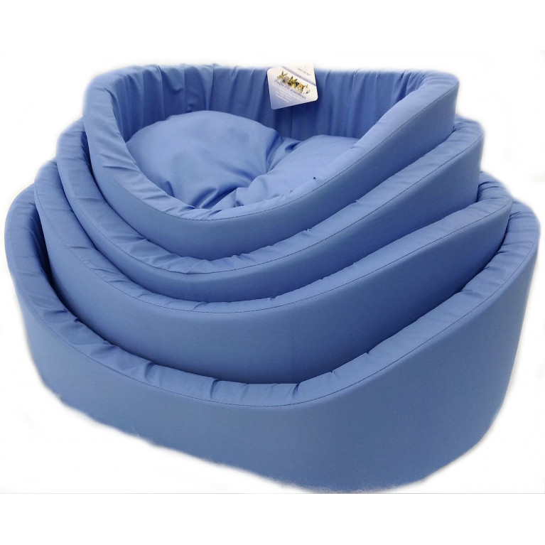 Лежак с бортиками №2 синий
