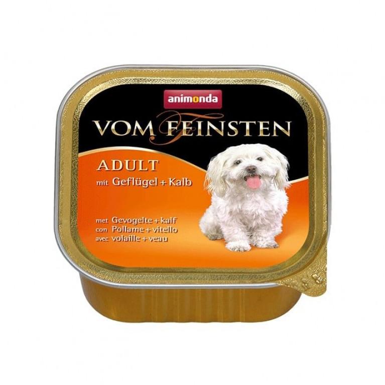Анимонда 150гр Vom Feinsten Adult консервы для собак мясо птицы и телятина