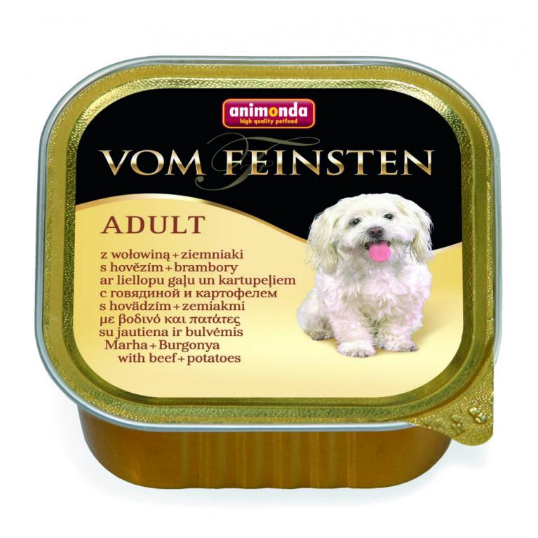 Анимонда 150гр Vom Feinsten Adult консервы для собак говядина,картошка