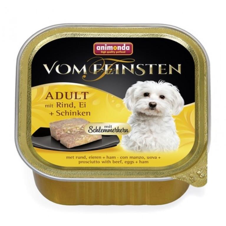 Animonda Vom Feinsten Adult Консервы для собак Меню для гурманов с говядиной, яйцом и ветчиной, 150г.