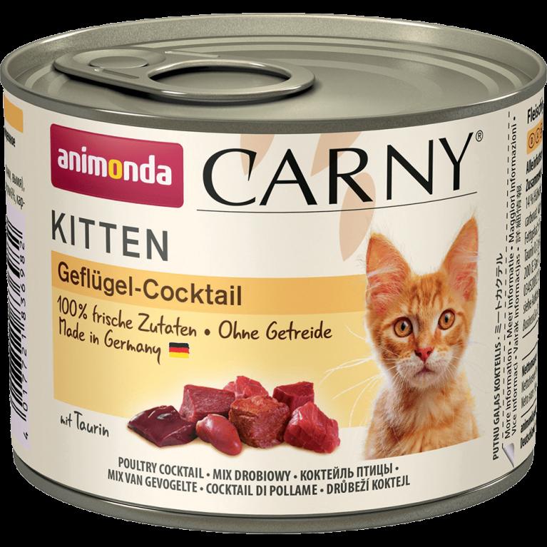 "Animonda Carny Kitten консервы для котят ""Коктейль из птицы"" 200г"