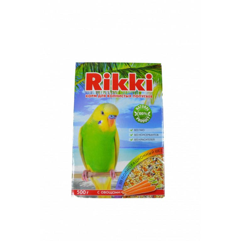 RIKKI Корм для волнистых попугаев с овощами 500 г.