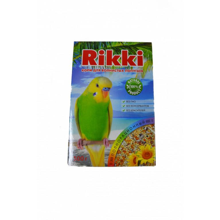 RIKKI Корм для волнистых попугаев полнорационный 500 г.