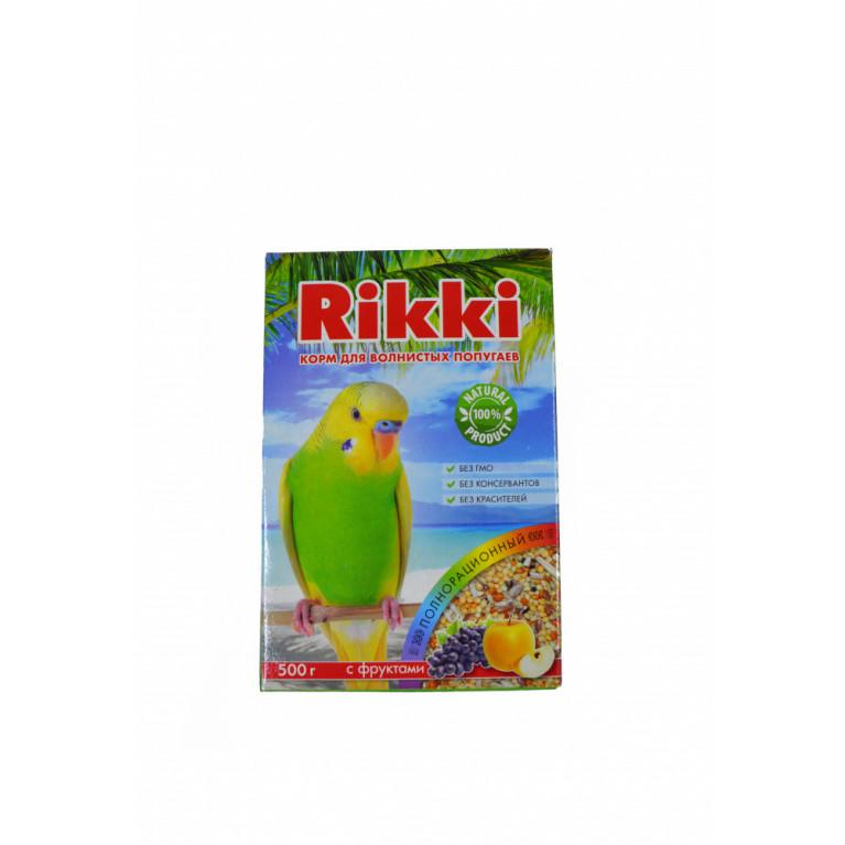 RIKKI Корм для волнистых попугаев с фруктами 500 г.
