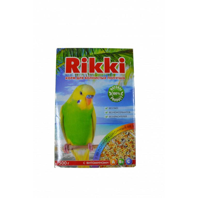 RIKKI Корм для волнистых попугаев с витаминами 500 г.