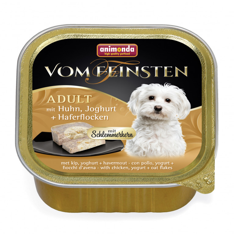 Animonda Vom Feinsten Adult Консервы для собак Меню для гурманов с курицей, йогуртом и овсяными хлопьями 150г